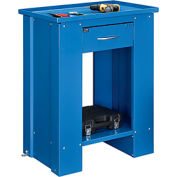 "28""W x 20""D x 35""H Liquid Assembly Repair Bench with Drainage Hole - Blue"
