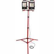 Bayco® SL-1530 Portable LED Dual Worklights w/8' Tripod, 50Wx2, 10000 Lumens, 5000K