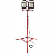 Bayco® SL-1530 Portable LED Dual Worklights w/8' Tripod, 50Wx2, 10000 Lumens, 5000K