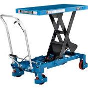 Best Value Mobile Heavy Duty Scissor Lift Table 40 x 20 Platform 2200 Lb. Capacity