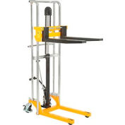 "Best Value Manual Lift Stacker 880 Lb. Cap. 59"" Lift"