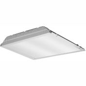 Lithonia 2GTL2 120 LP840 2x2 LED Recessed Lens Troffer, 18.6W, 120V, 2063 Lumens, 4000K