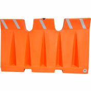 Diversified Plastics 6'L Traffic Barrier, Polyethylene, Orange