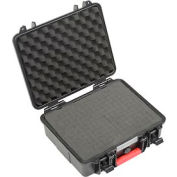 "Global Waterproof Hard Case W/Pinch Tear Foam 11""L x 9-11/16""W x 4-3/16""H, Black"