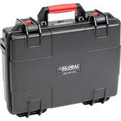 """Global Waterproof Hard Case w/Pinch Tear Foam 16-11/32""""L x 13-3/16""""W x 4-3/4""""H, Black"""