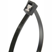"Gardner Bender 46-314UVBSC 14"" Self-Cutting Cable Ties, Black, 50lb, 50/pk, 4"" Max Dia, Twist Tail"