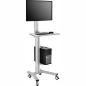 Mobile Height Adjustable Desktop Computer Workstation