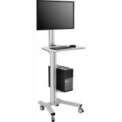 Mobile Height Adjustable Desktop Computer Workstation