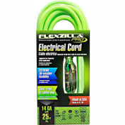 Flexzilla 721-143025FZL5F Pro Extension Cord, 25', 14/3, All-weather, Lighted Plug, ZillaGreen