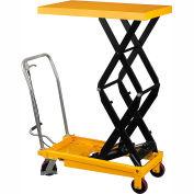 Wesco® Mobile Double Scissor Lift Table 272862 - 1540 Lb. Cap.