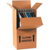 "Wardrobe Packing Cardboard Corrugated Boxes 24"" x 22"" x 60"" 275#/ECT-48 - Pkg Qty 5"