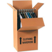 "Wardrobe Packing Cardboard Corrugated Boxes 24"" x 20"" x 34"" 275#/ECT-48 - Pkg Qty 5"