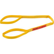 Global Industrial™Poly Web Sling, Light Duty, Eye&Eye 4 Ft L x 1 In W-1200/950/2400 Lbs Cap