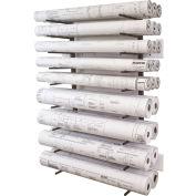 Vis-i-Rack™ VRW46-High Cap. Blueprint Storage Roll File Wall Rack - 8 Openings