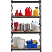 "Hirsh Iron Horse 2300 Heavy Duty 36""W x 18""D x 60""H 4 Shelf Storage Rack in Black"