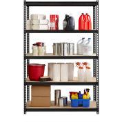 "Hirsh Iron Horse 2300 Heavy Duty 48""W x 24""D x 72""H 5 Shelf Storage Rack in Black"