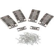 Global Locker Number Plate Kit - Pkg of 200 Numbered  700-899