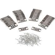 Global Locker Number Plate Kit - Pkg of 200 Numbered  900-1099