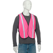 "Global Industrial™ Hi-Vis Safety Vest, 1"" Reflective Strip, Polyester, Pink, One Size"