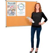Cork Bulletin Board - 5' x 3' - Aluminum Frame