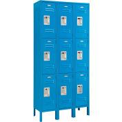 Infinity™ Locker 3 Tier 12 x 15 x 24 9 Door Assembled Blue