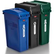 Rubbermaid Slim Jim® 3 Stream Recycling System  - 1998897