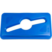 Rubbermaid Slim Jim® Multi Stream Recycling Lid for Slim Jim Containers Blue - 1788372 - Pkg Qty 4