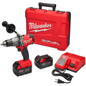 """Milwaukee 2704-22 18V Li-Ion Brushless 1/2"""" Hammer Drill/Driver Kit (2) 5.0Ah Batt, Charger, Case"""