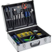 "Aluminum Tool Case 18"" x 14"" x 6"" with Tool Panel, Foam and Dividers"