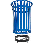 Global Industrial™ Metal Slatted Trash Receptacle Base - Black