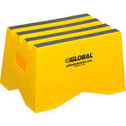 "1 Step Plastic Step Stand - 19-1/2""W x 13-1/2""D x 12""H, Yellow"