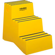 "3 Step Plastic Step Stand - 20""W x 28-1/2""D x 33-1/2""H, Yellow"