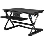 Interion® Height Adjustable Sit Stand Desk - Retractable Keyboard