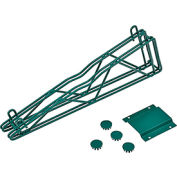 "Nexel® Poly-Green™ 18"" Double Arm Fixed Wall Bracket"