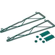 "Nexel® Poly-Green™ 24"" Single Arm Fixed Wall Bracket (Pair)"