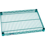 "Standard Wire Shelf, Poly-Green, 14""W x 24""L"