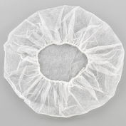 "Polypropylene Bouffant Cap, 24"", White, 100/Bag"