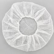 "Polypropylene Bouffant Cap, 28"", White, 100/Bag"