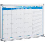 Magnetic Dry Erase Calendar Board - Steel Surface - 48 x 36