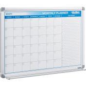 "Magnetic Dry Erase Calendar Board - Steel Surface - 36""W x 24""H"