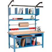 """Global Industrial™ Complete Packing Workbench, Maple Butcher Block Safety Edge, 60""""W x 30""""D"""