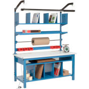"""Global Industrial™ Complete Packing Workbench, ESD Safety Edge, 72""""W x 30""""D"""