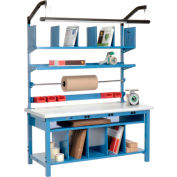"""Global Industrial™ Complete Packing Workbench W/Power Apron, Laminate Safety Edge, 60""""W x 30""""D"""