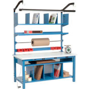 """Global Industrial™ Complete Packing Workbench W/Power Apron, ESD Square Edge, 60""""W x 30""""D"""