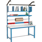 Packaging Workbench Plastic Safety Edge - 72 x 30 with Riser Kit