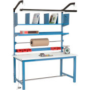Global Industrial™ Packing Workbench ESD Safety Edge - 60 x 30 with Riser Kit