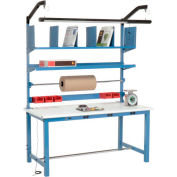 Electronic Packing Workbench ESD Safety Edge - 60 x 30 with Riser Kit