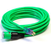 Century D14412100GN ProLock Extension Cord, 12/3 SJTW, 100', Lighted Ends, Green