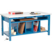 Electronic Packing Workbench ESD Safety Edge - 72 x 30 with Lower Shelf Kit