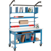 """Global Industrial™ Complete Mobile Packing Workbench, ESD Safety Edge, 72""""W x 30""""D"""